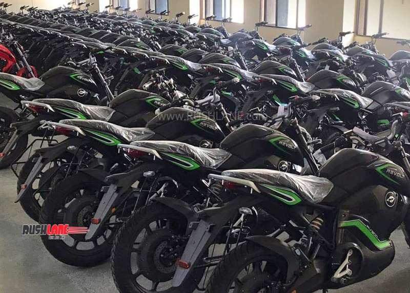 Revolt electric motorcycle deliveries