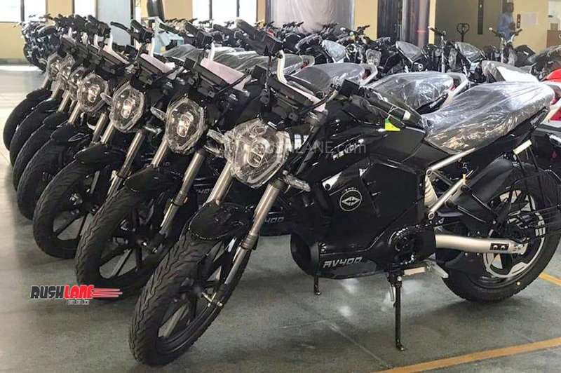 Revolt electric motorcycle deliveries