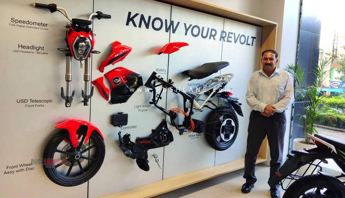 Revolt electric motorcycle Pune