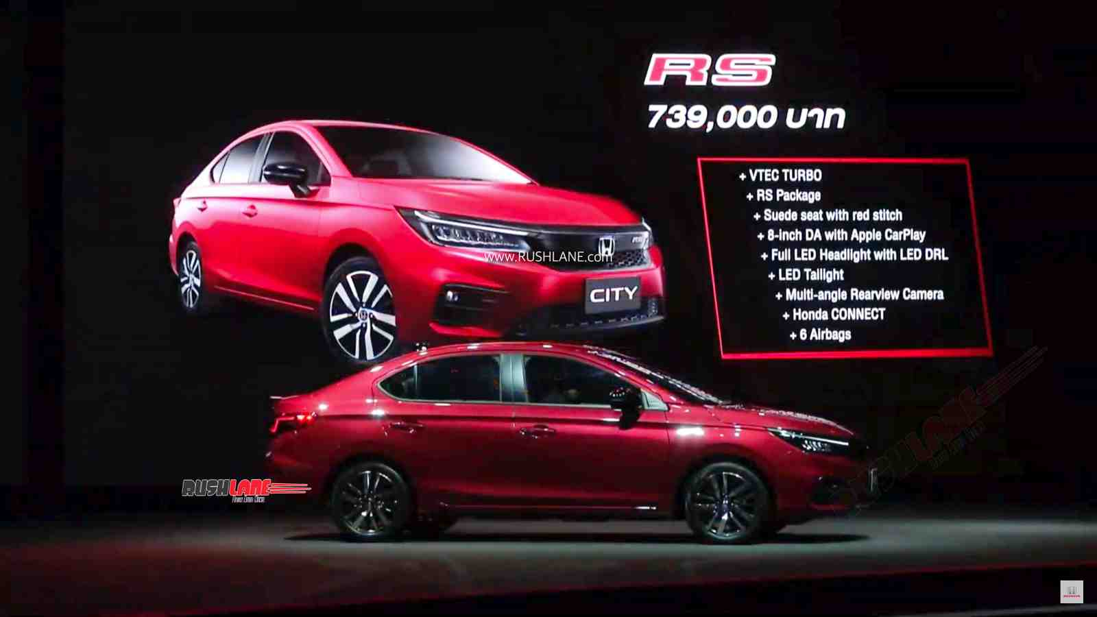 New Honda Motorcycles >> 2020 Honda City RS TURBO 1 liter launched - Price, variants, specs