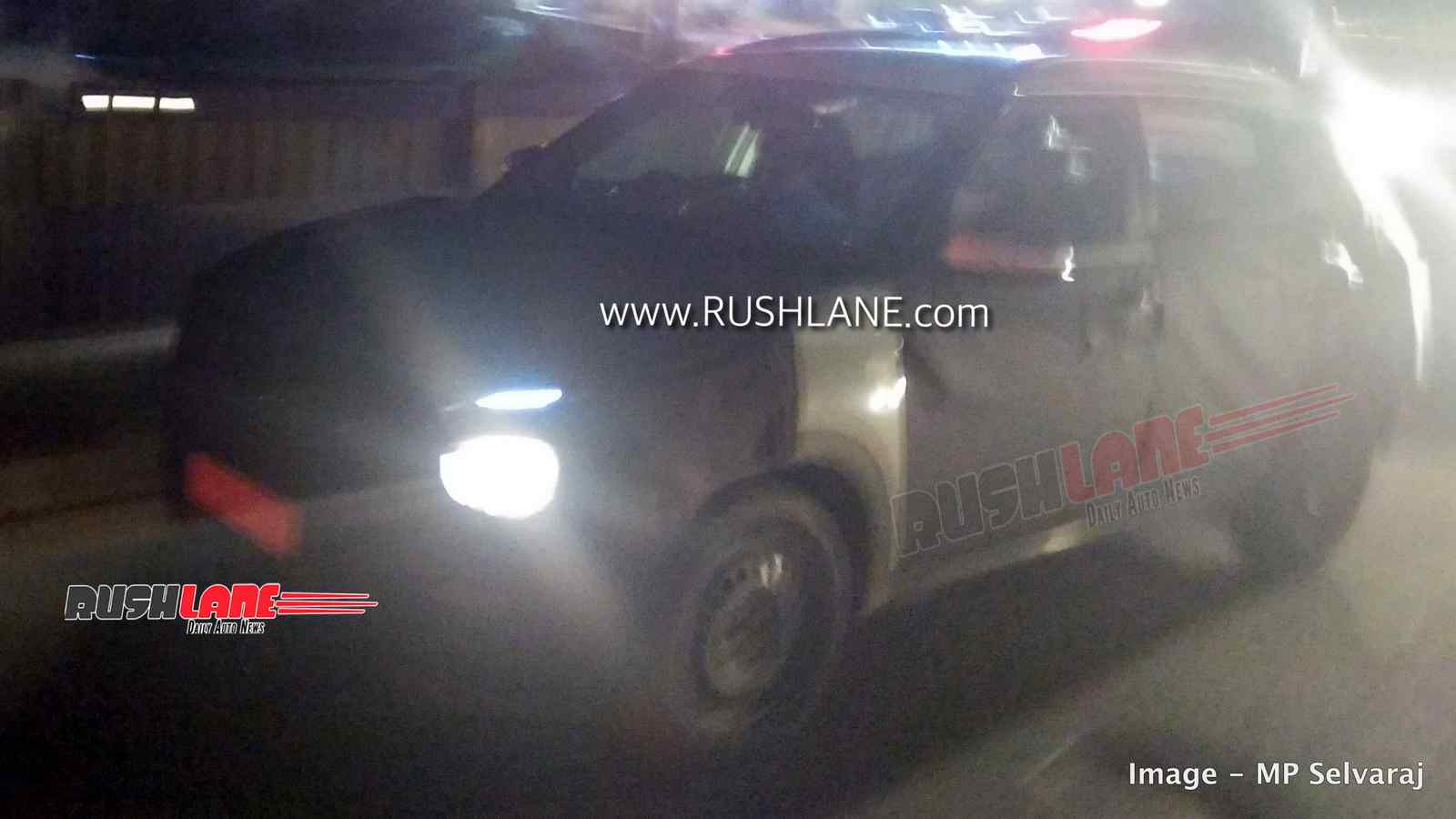 2020 Hyundai Creta spied at night – LED headlight and DRL revealed