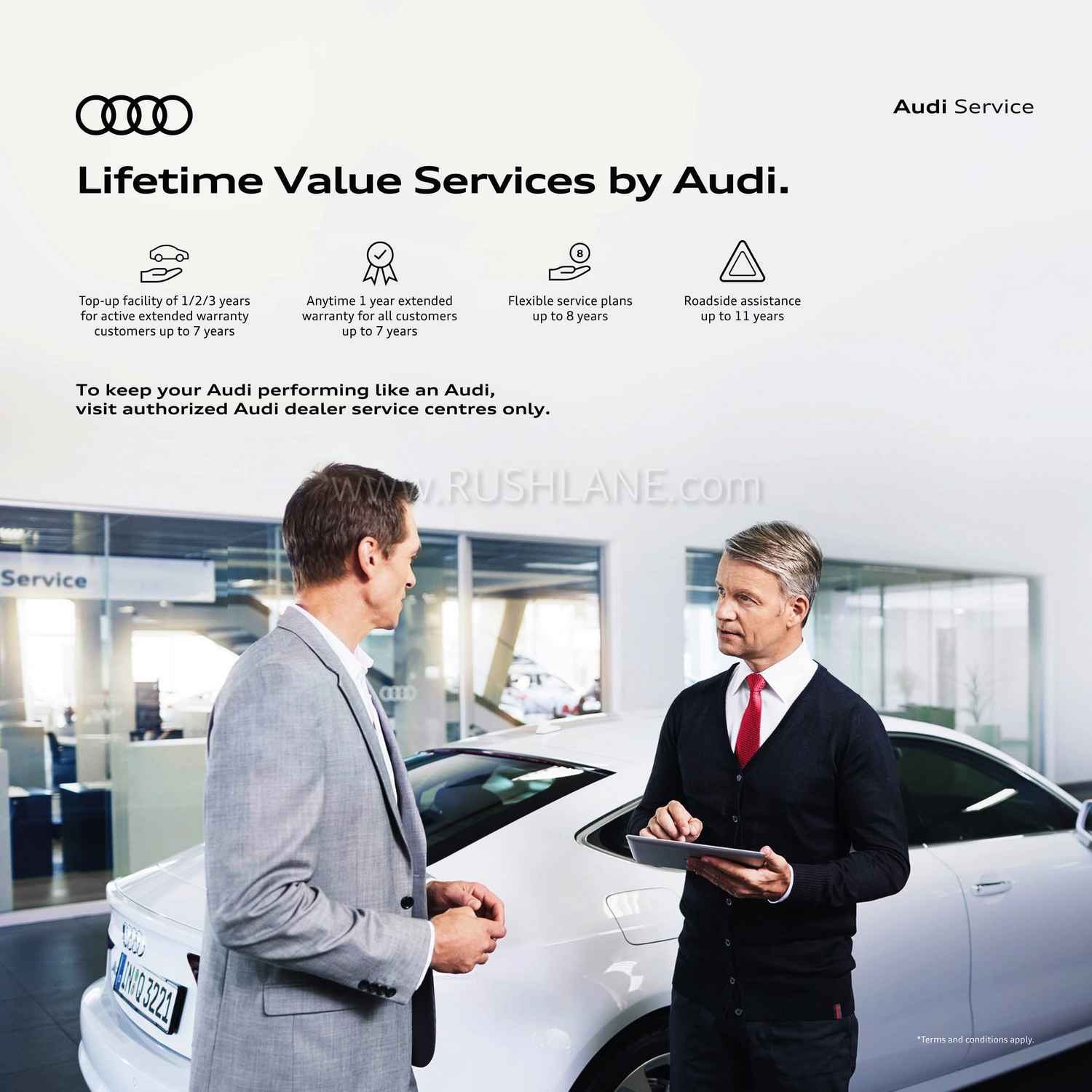 Audi India extended service