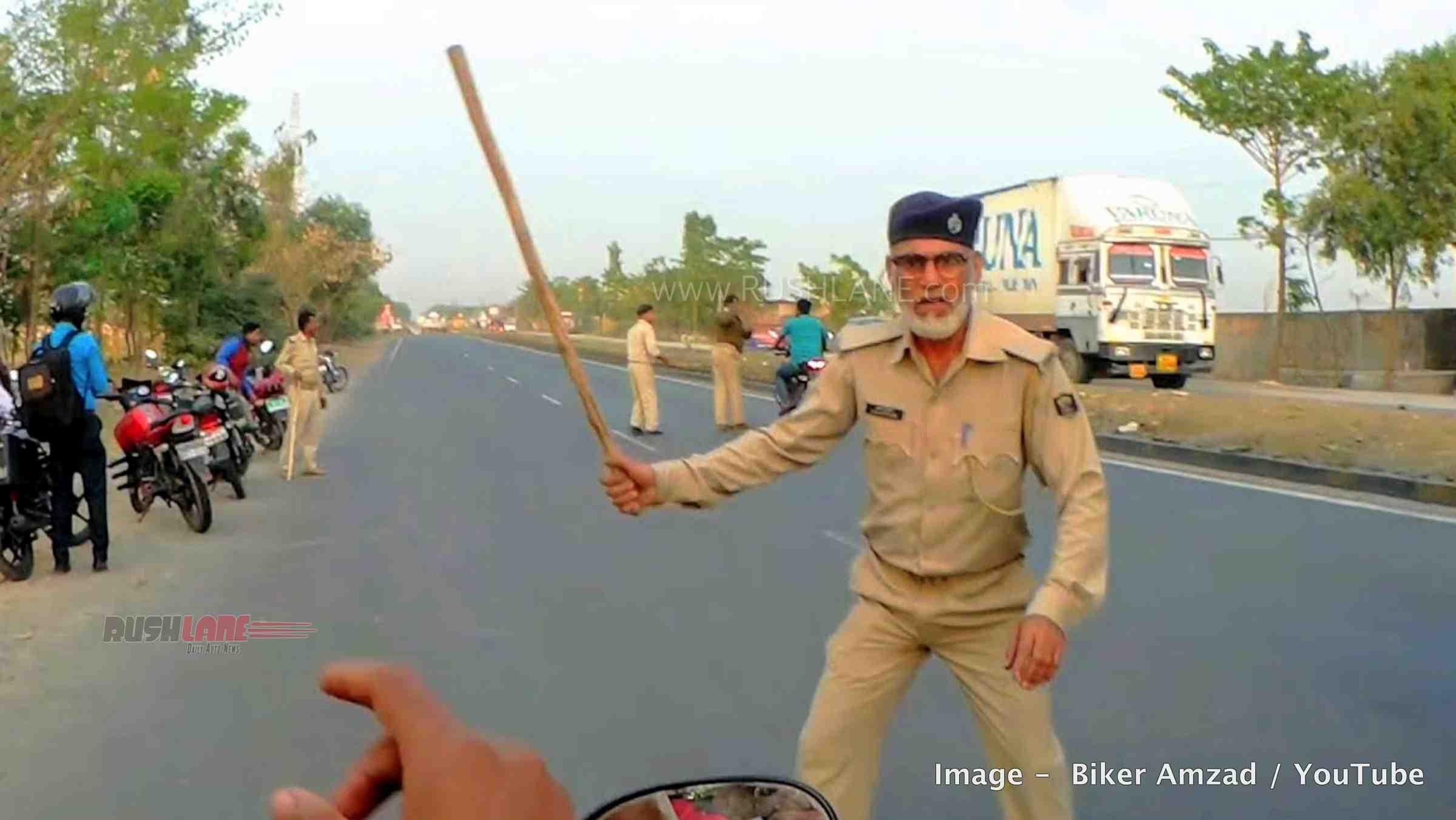 Police stop biker