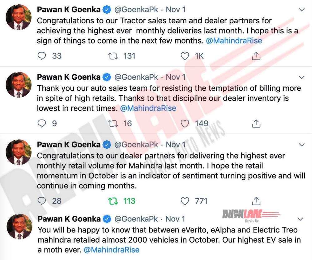 Mahindra electric car sales record