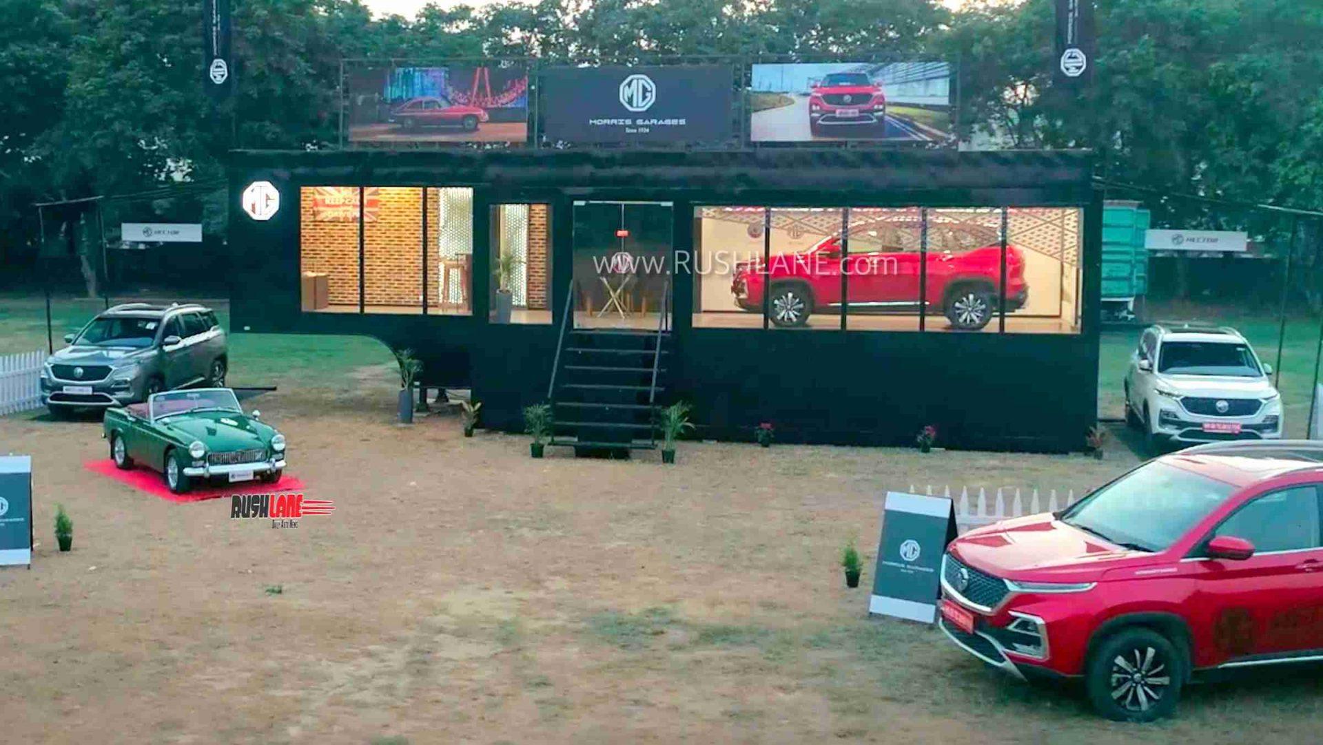 MG Hector mobile showroom