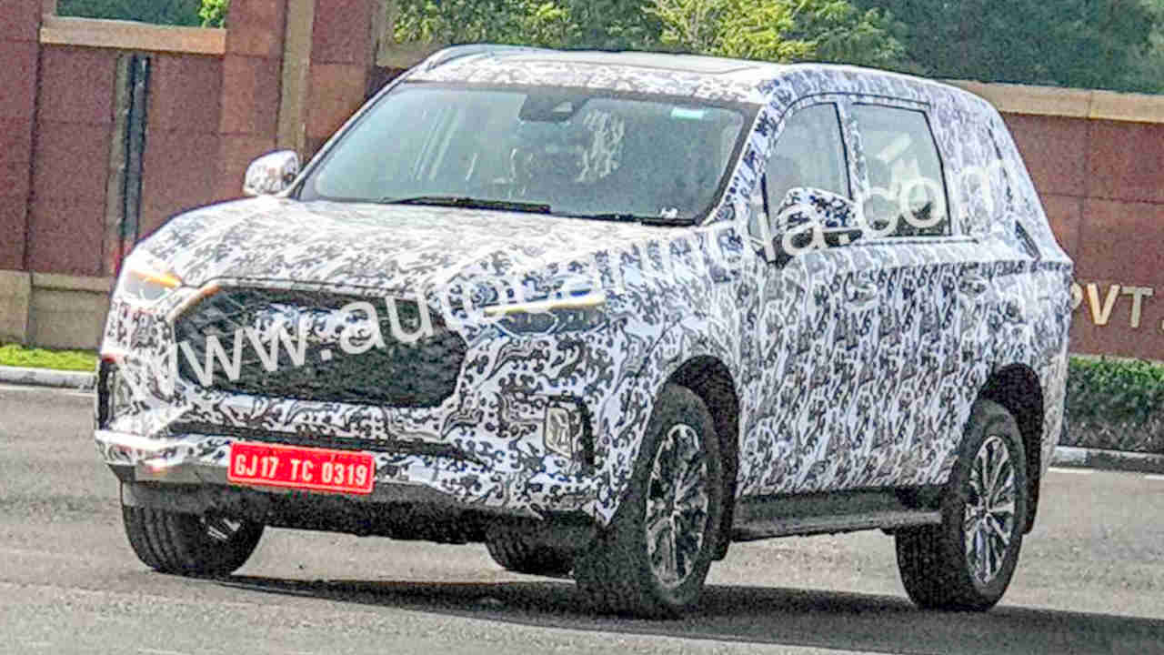 MG testing Maxus D90 in India
