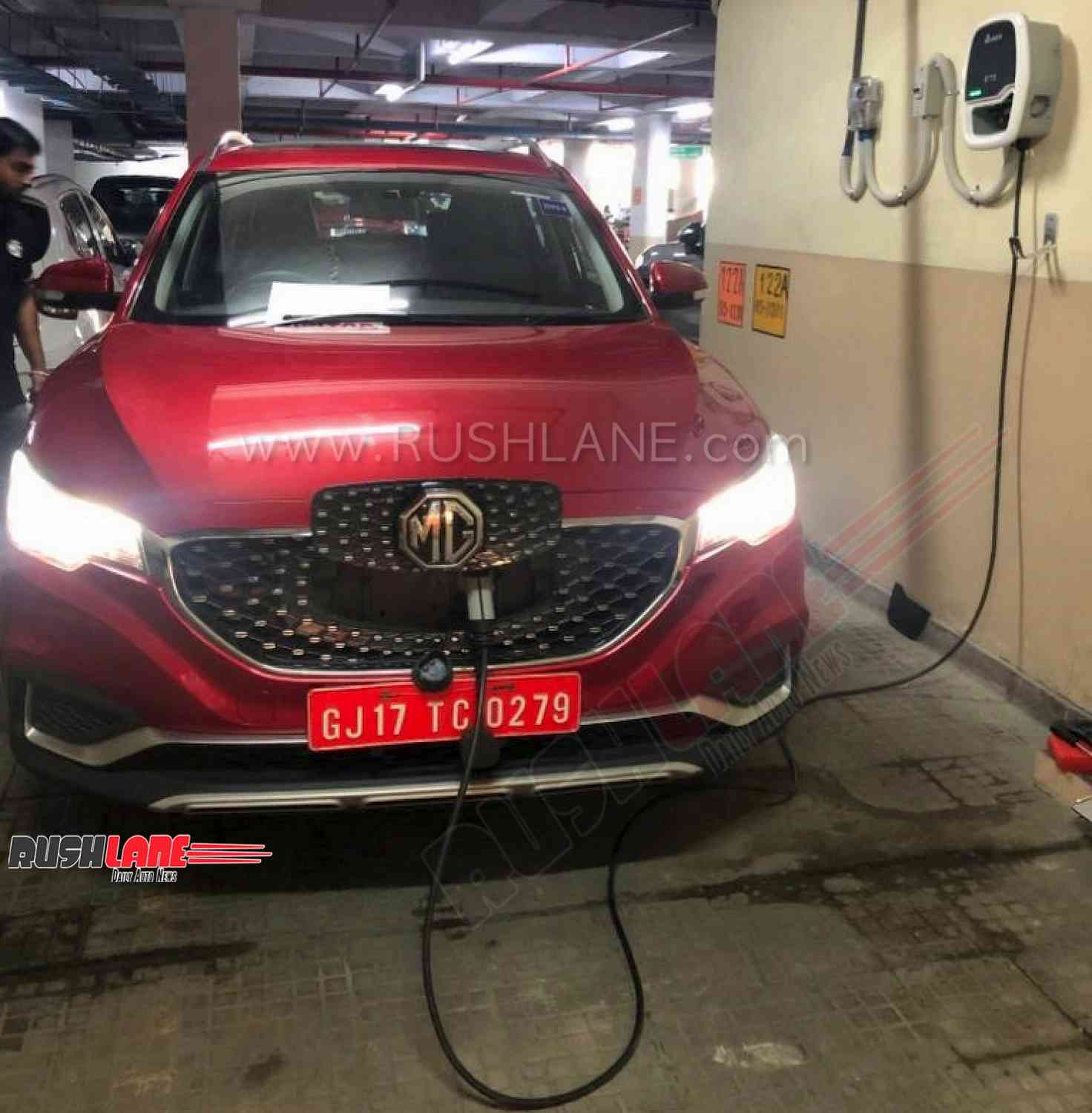 MG ZS electric SUV charging system