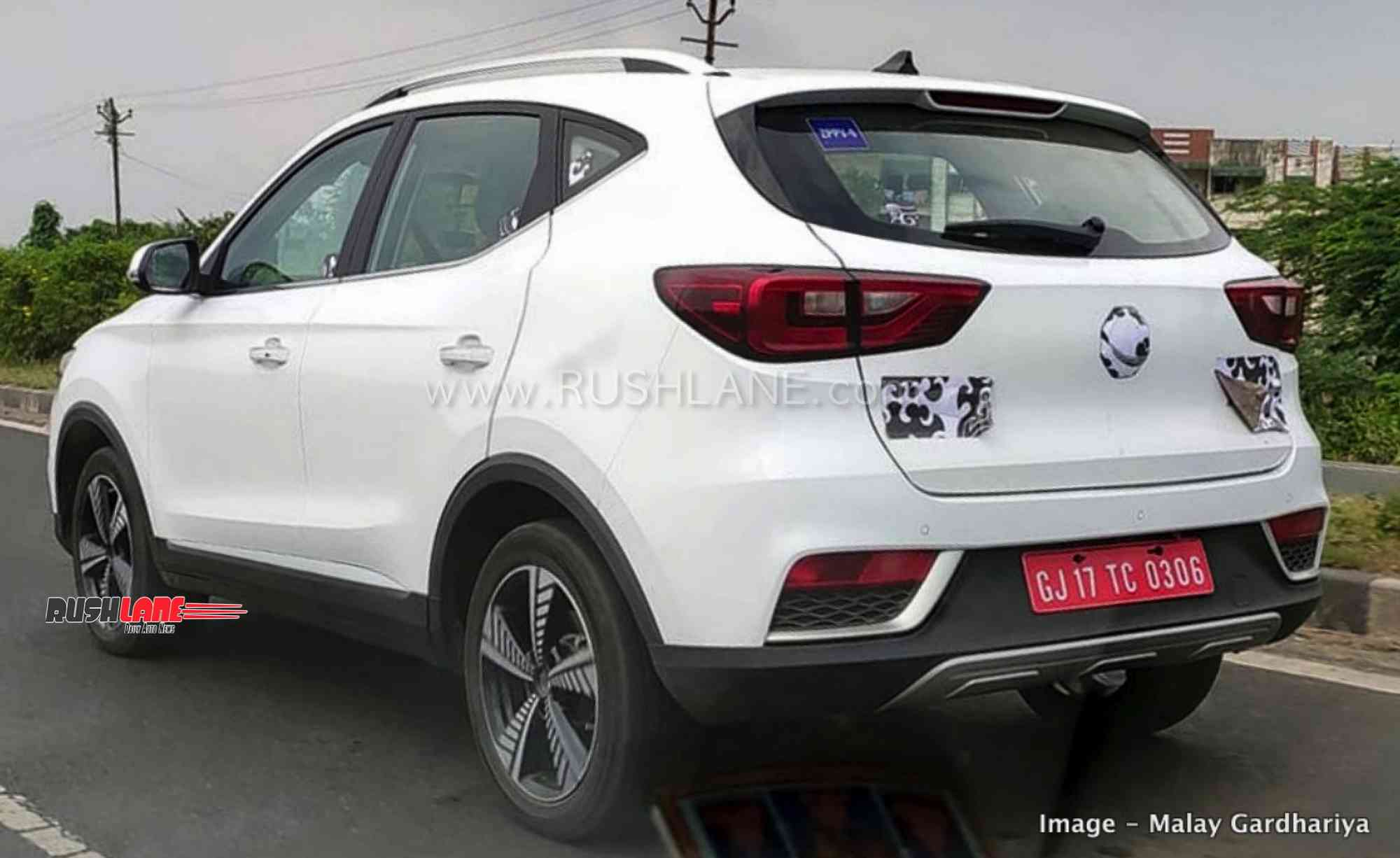 MG ZS spied in India