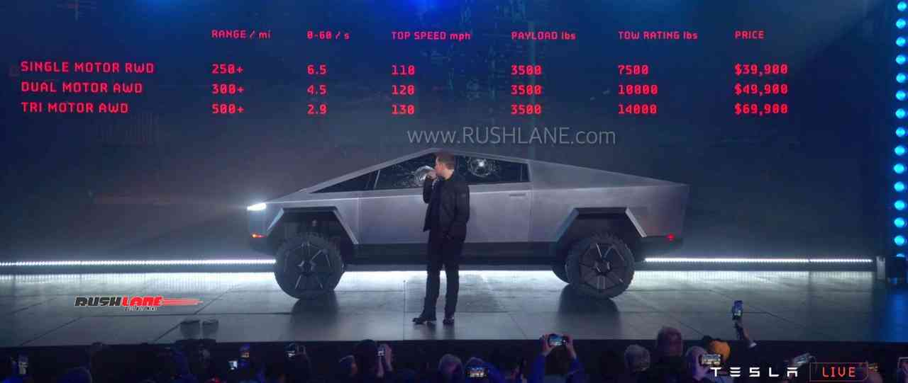 Tesla cybertruck pickup