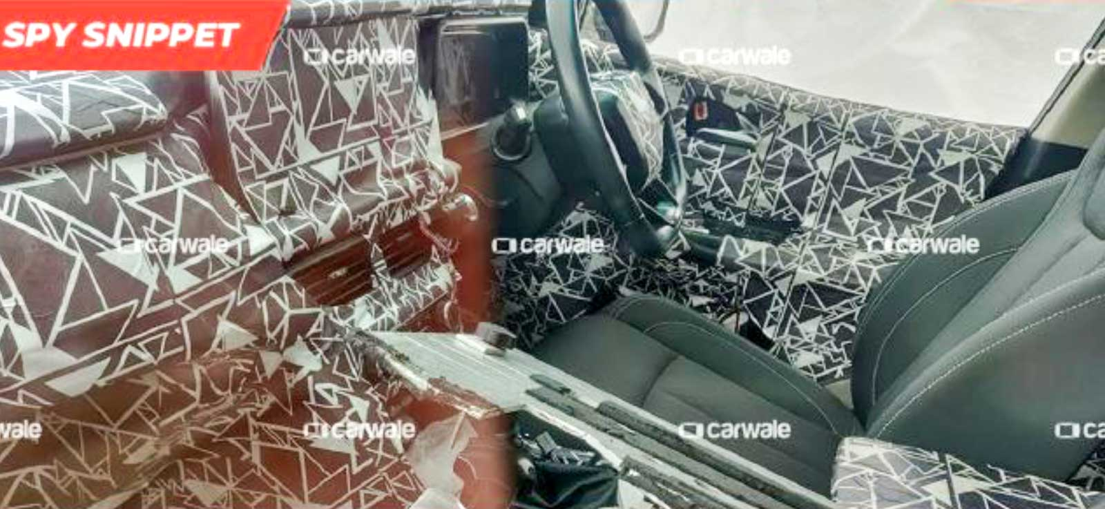 2020 Mahindra XUV500 dashboard