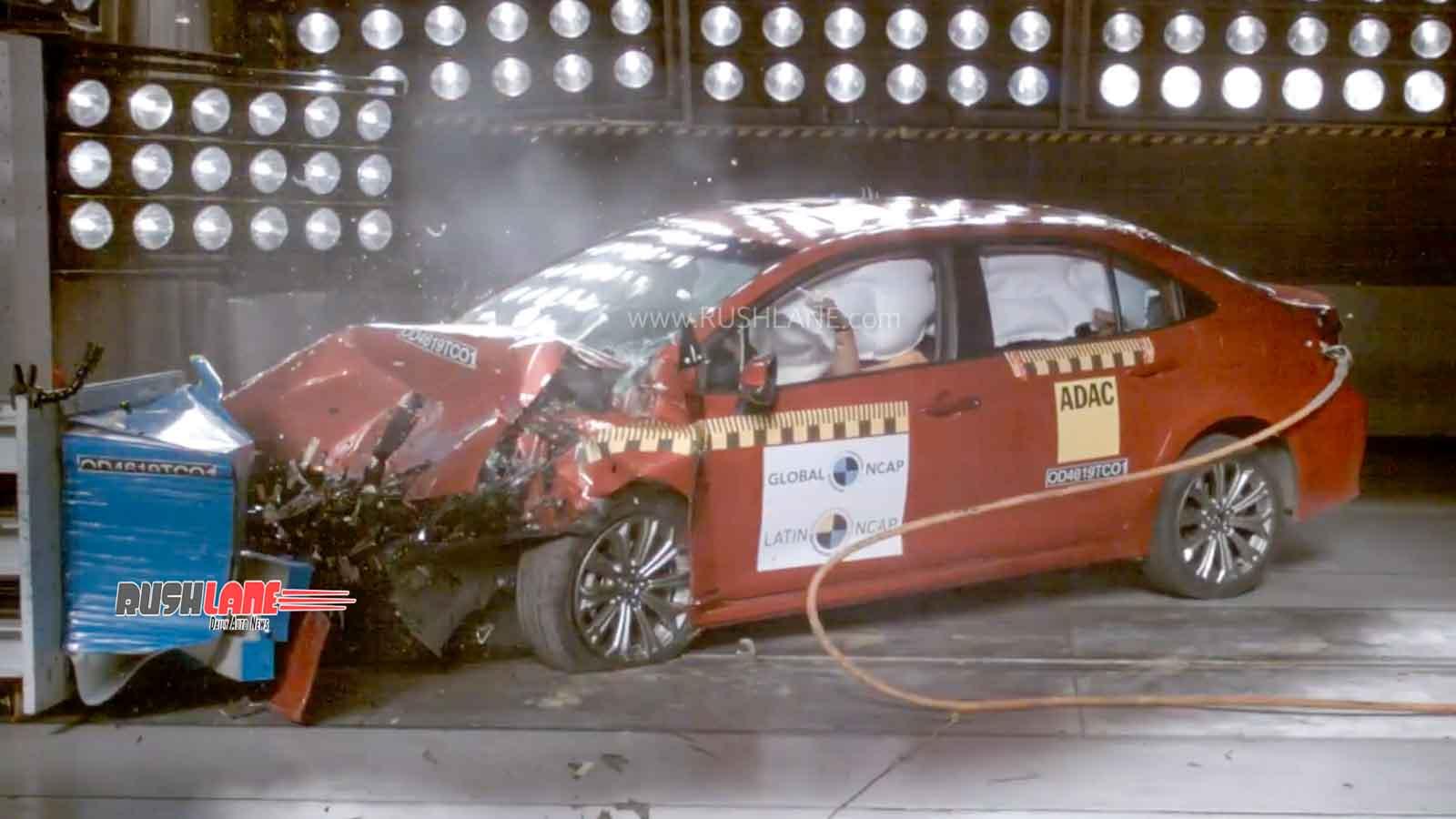 2020 Toyota Corolla crash test