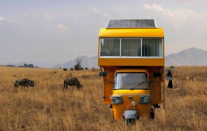 bajaj ri RVckshaw modified home