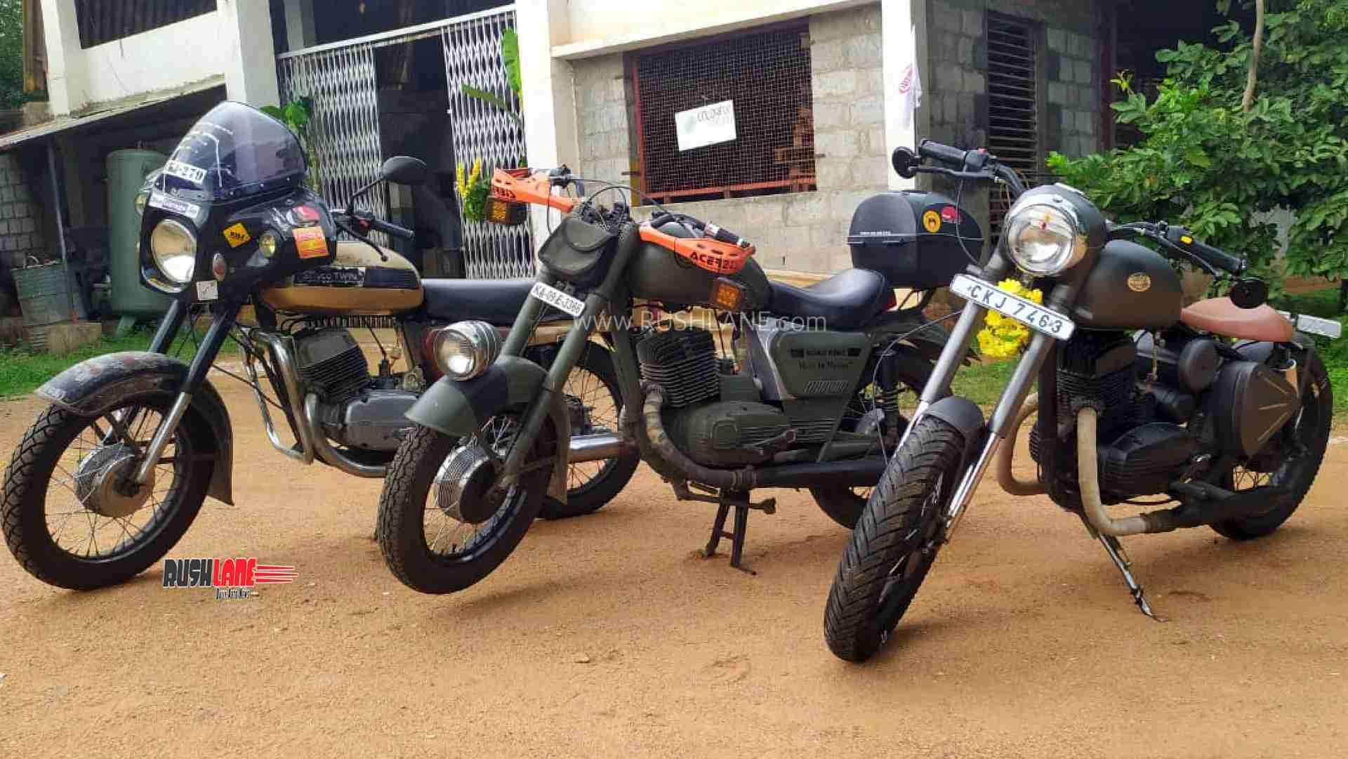 Old Yezdi modified Jawa Perak