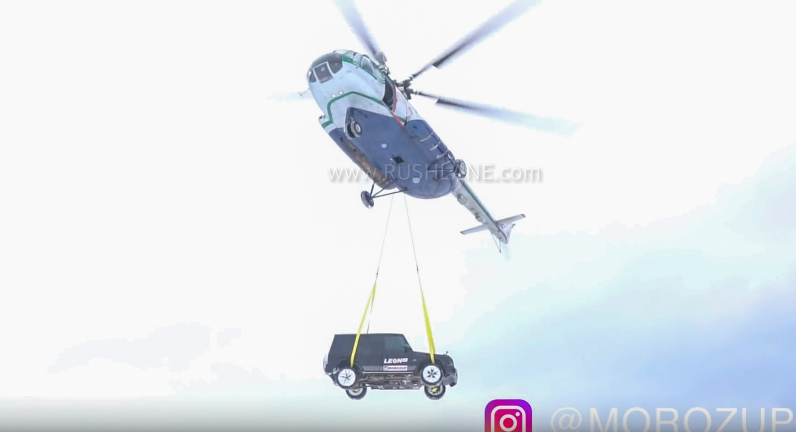 Mercedes G Class drop helicopter