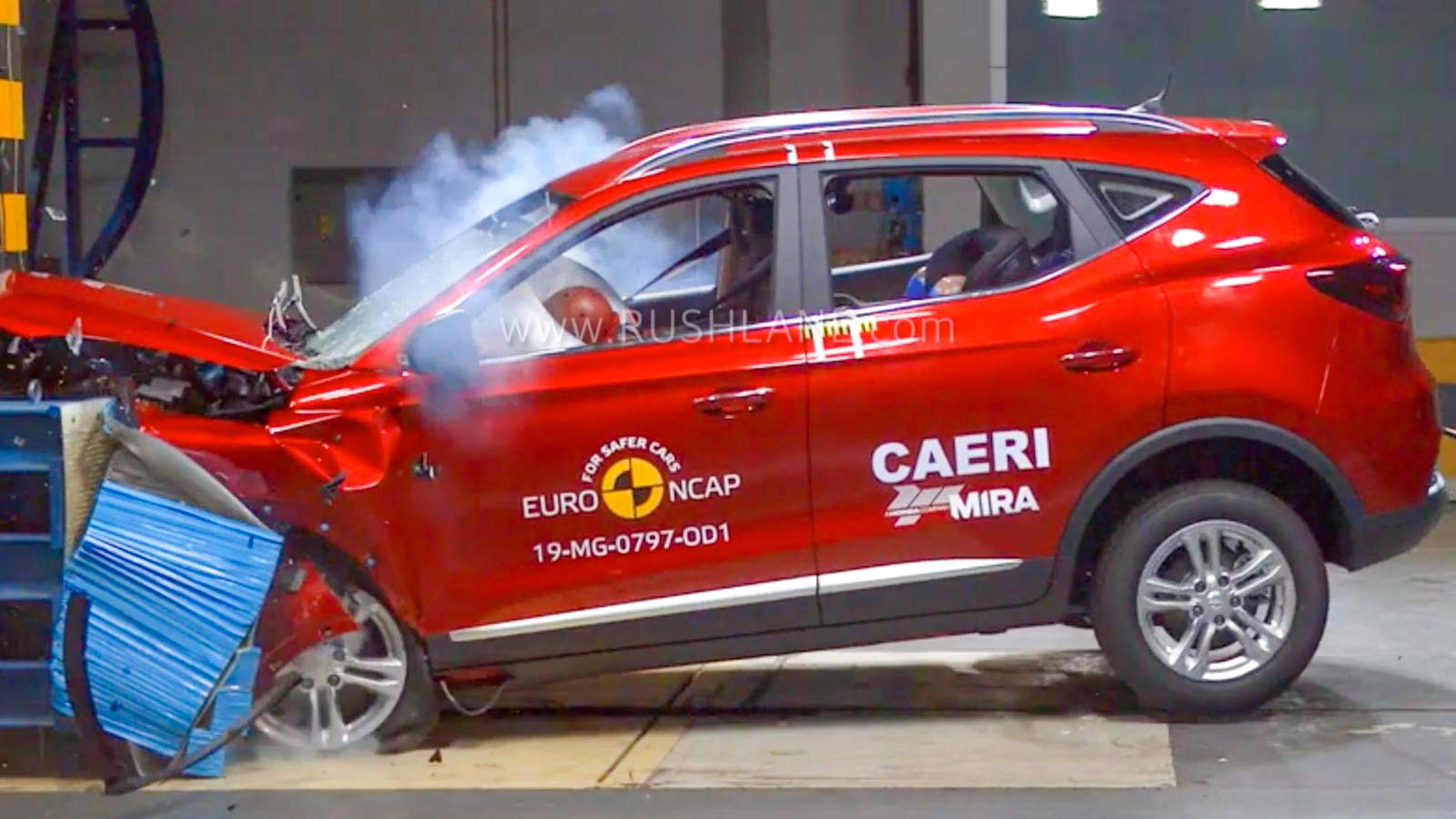 MG ZS electric SUV crash test