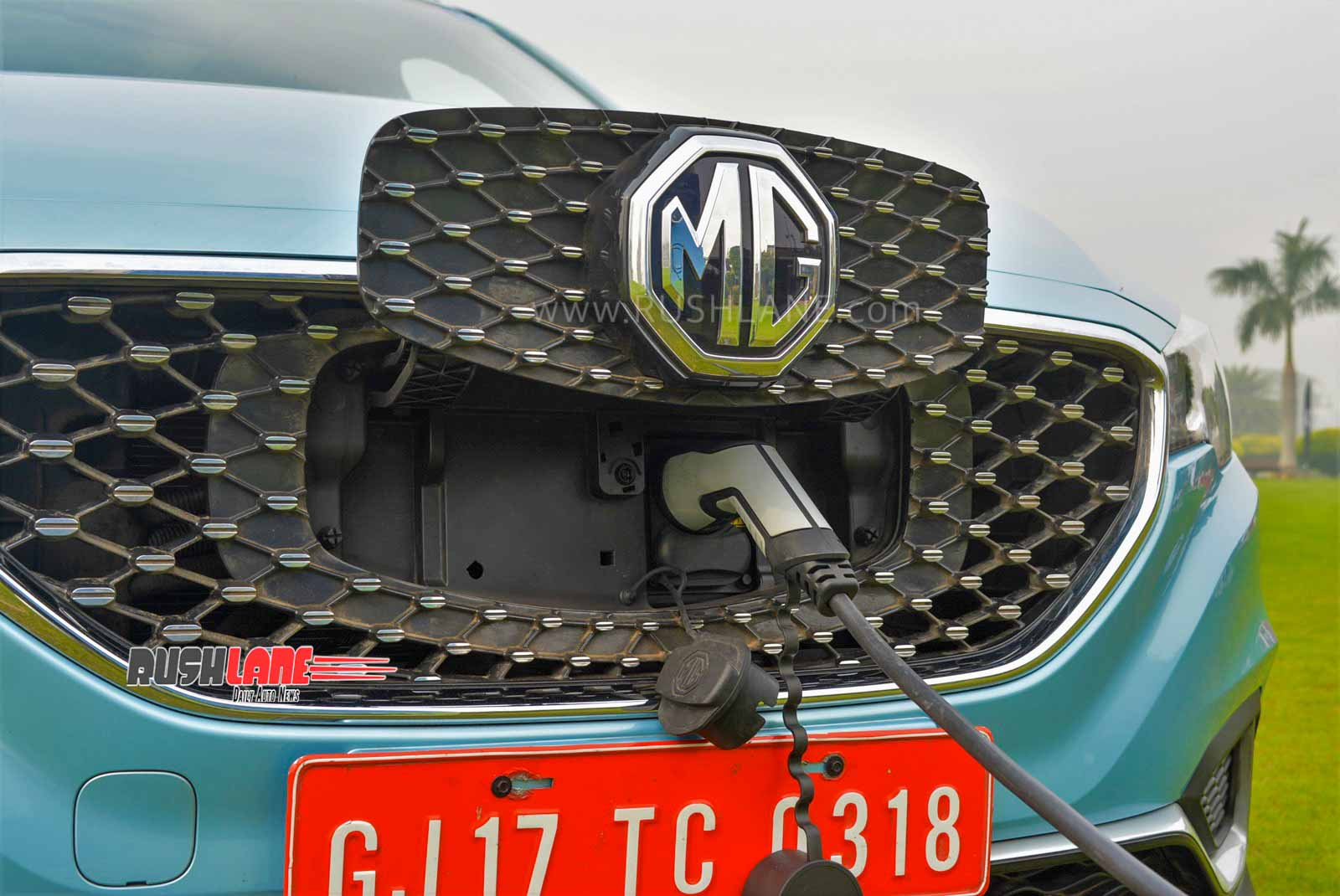 MG ZS electric SUV charging