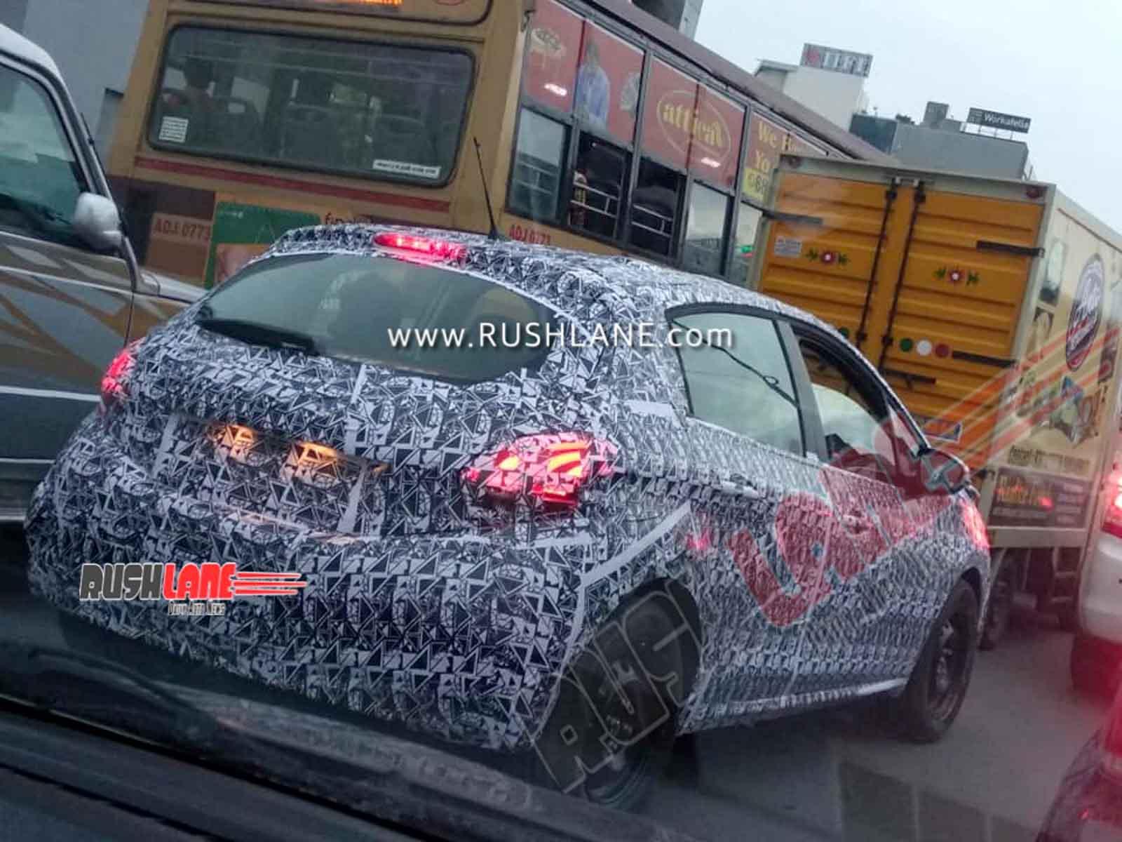 Peugeot 208 spied India