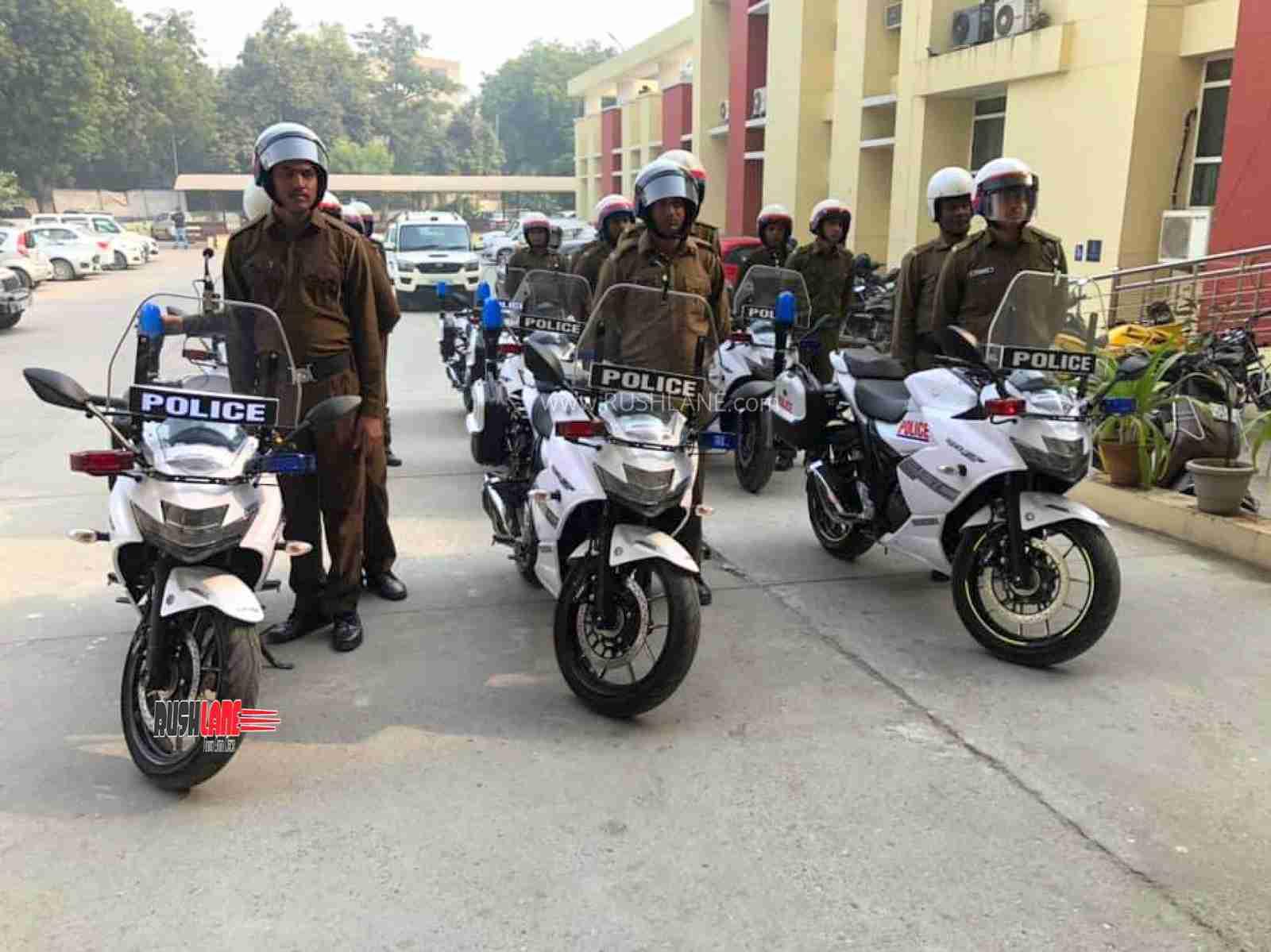 Suzuki Gixxer 250 SF Gurgaon Police