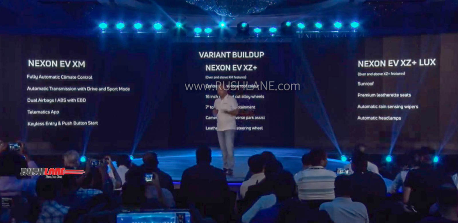 Tata Nexon electric variants and features.