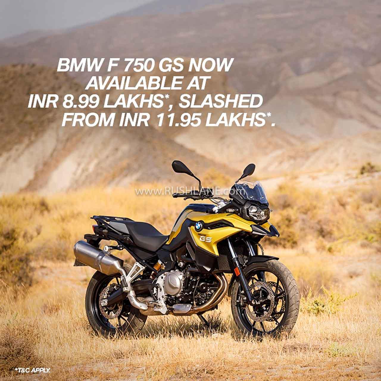 BMW India F 750 discounts