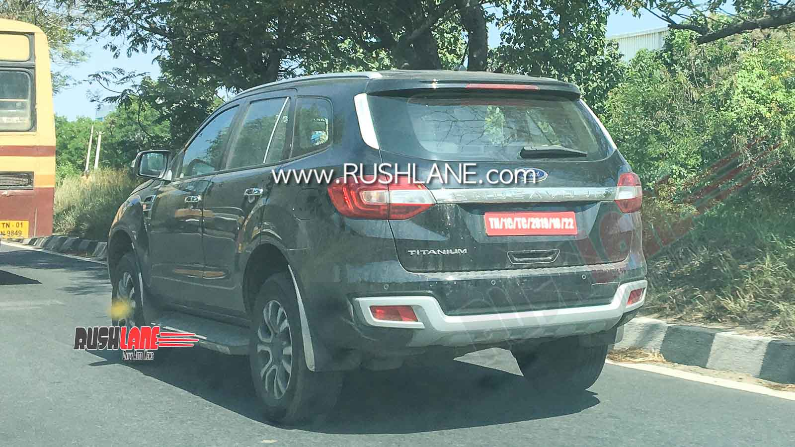 Ford Endeavour BS6 spied on test