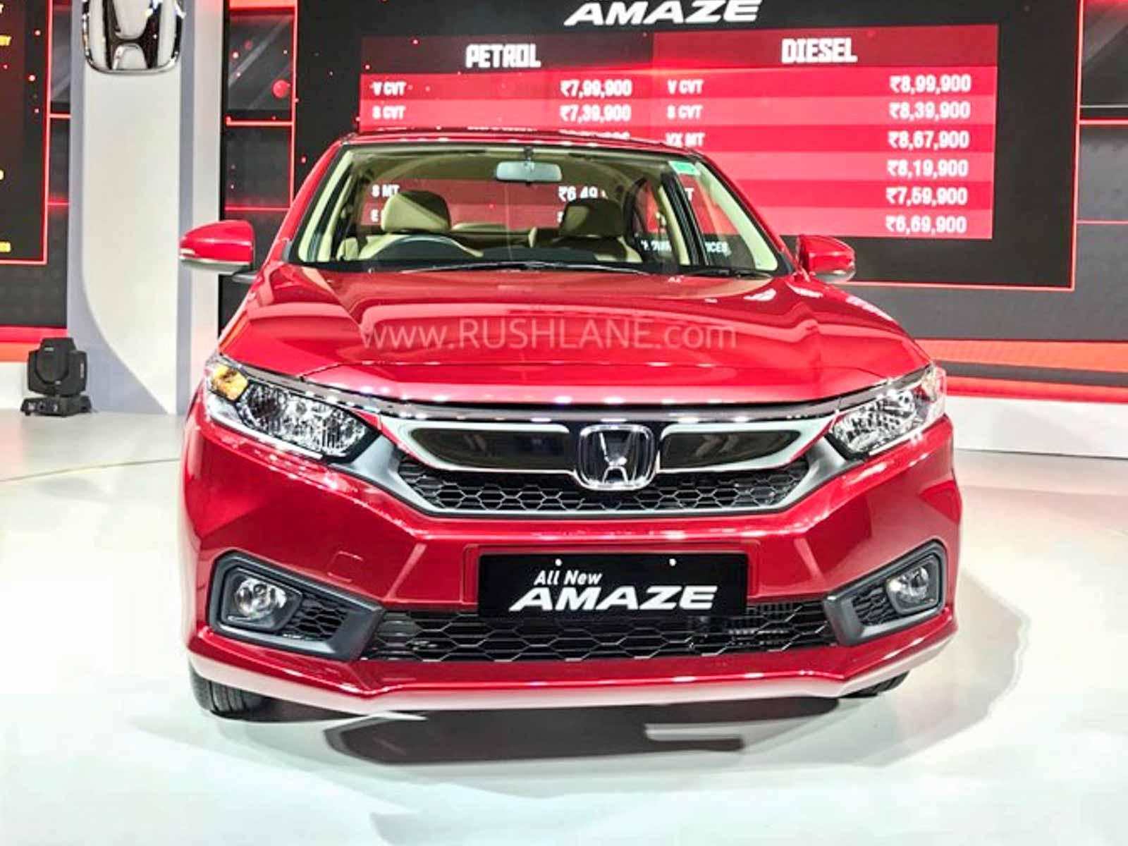 Honda Amaze car sales