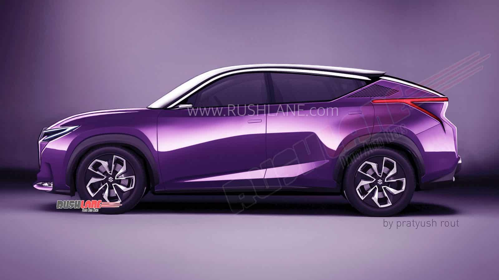 Maruti Futuro-e coupe SUV render