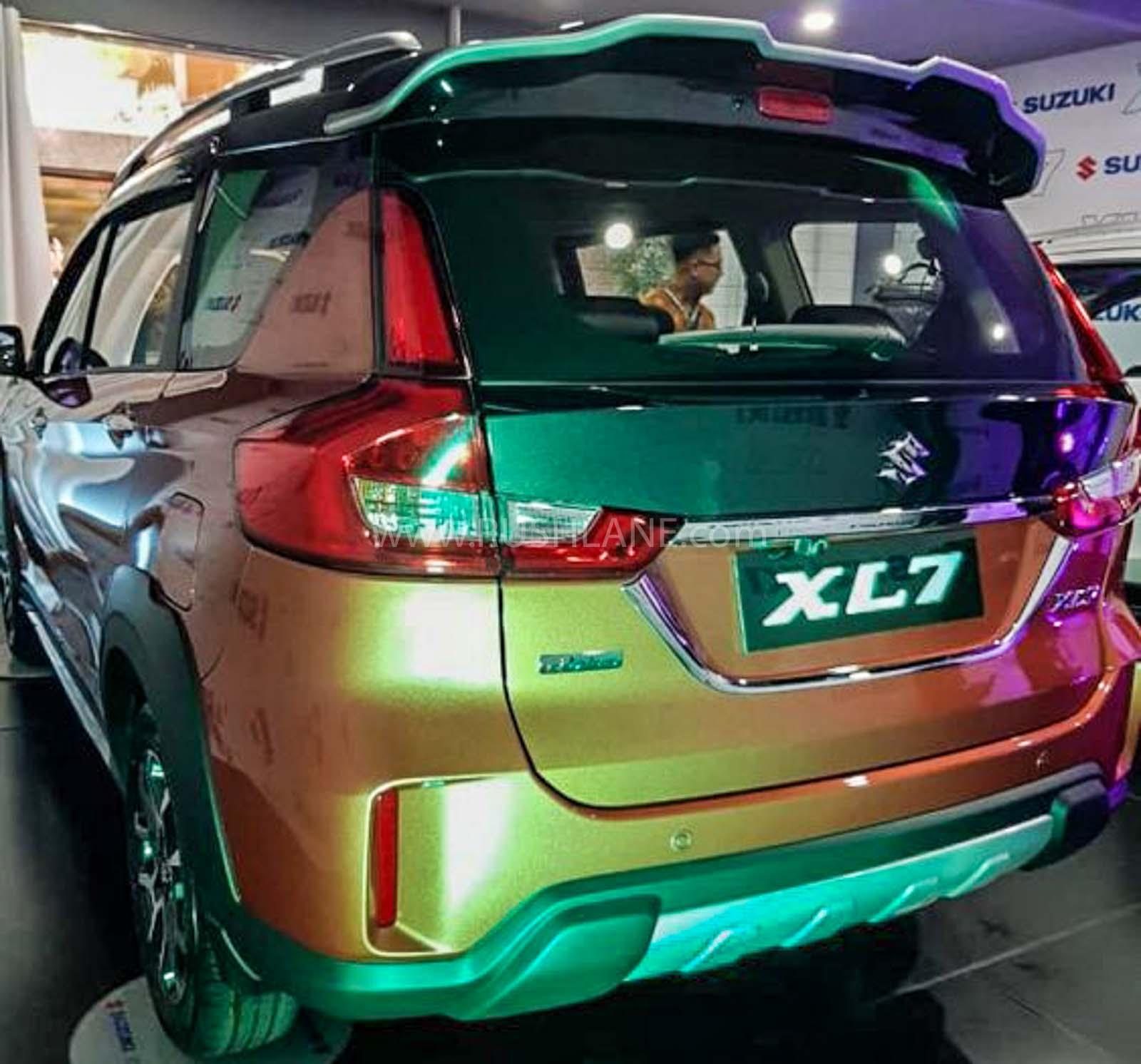 maruti ertiga based xl7 gets dual tone colour new alloys maruti ertiga based xl7 gets dual tone