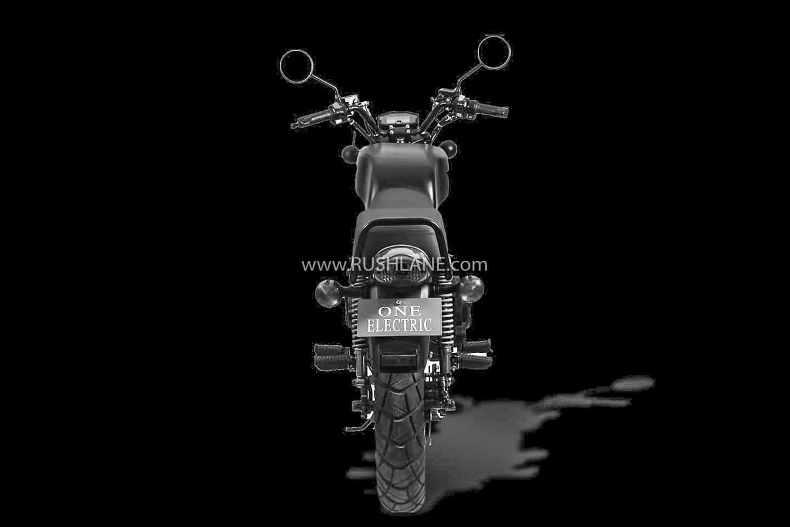 One electric motorcycle kridn