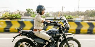 Royal Enfield Himalayan women Police
