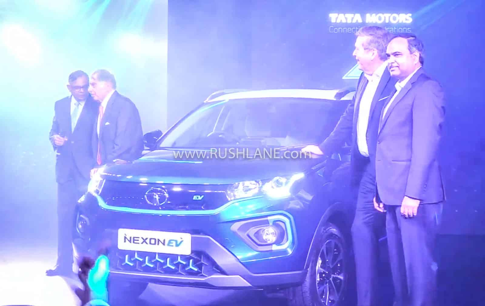 Ratan Tata at Tata Nexon Electric launch