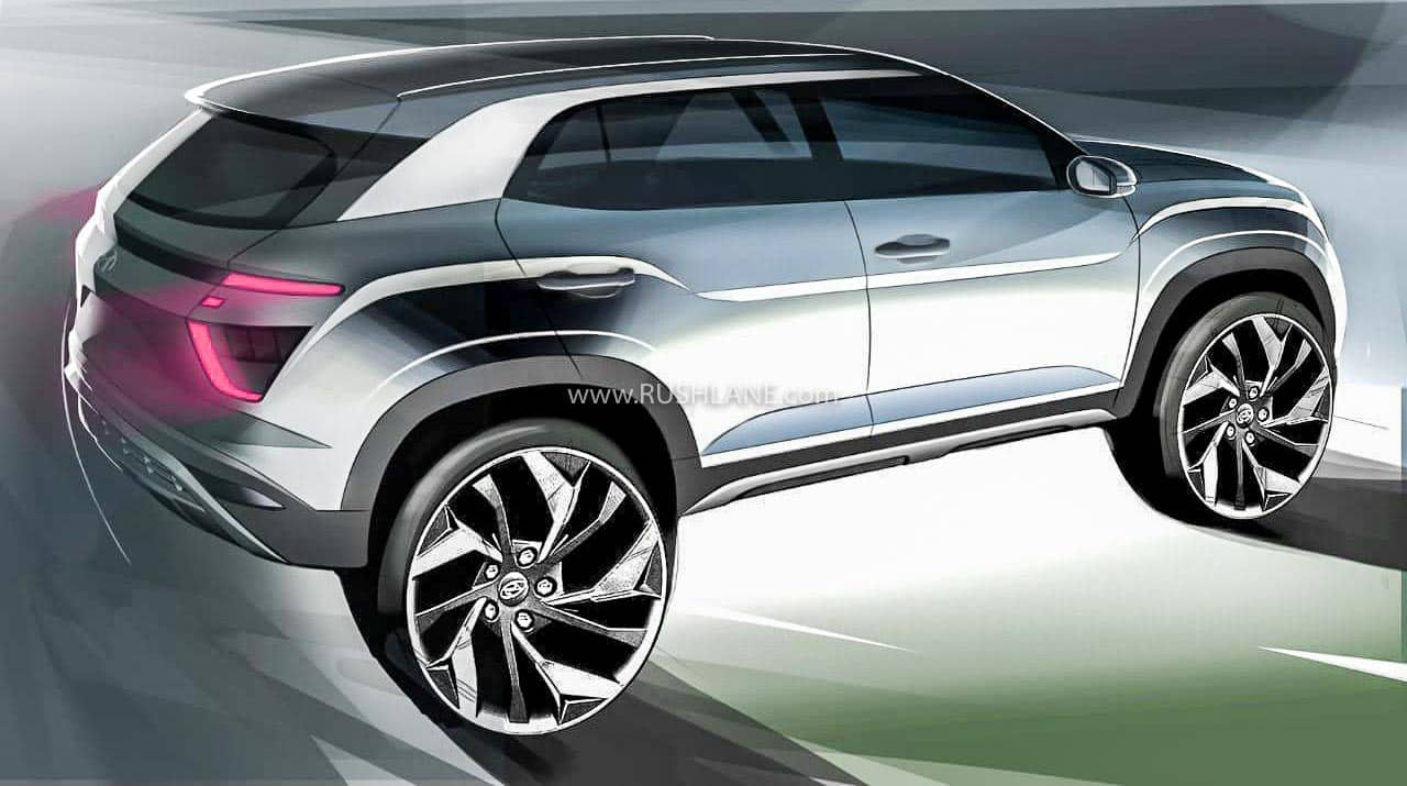 2020 Hyundai Creta India sketch