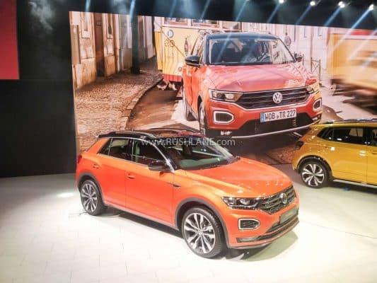 Volkswagen T-ROC SUV at Auto Expo