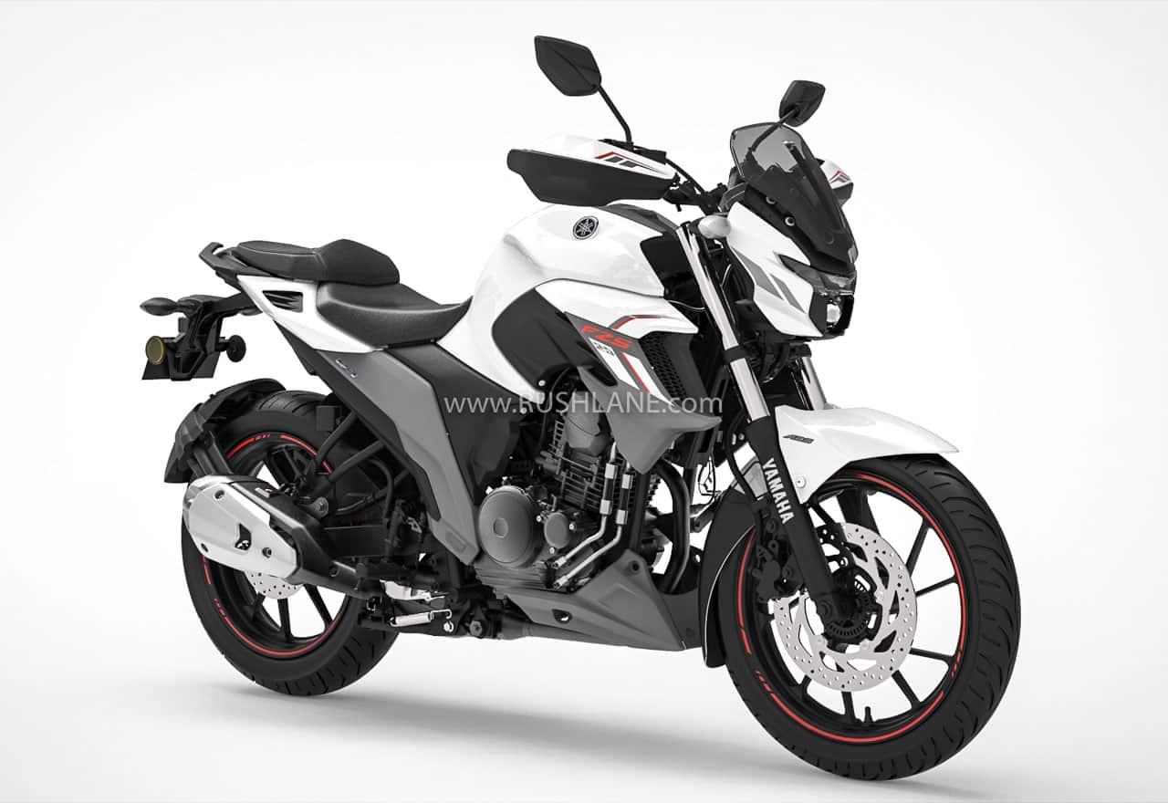 Yamaha FZS 25 BS6 Metallic White