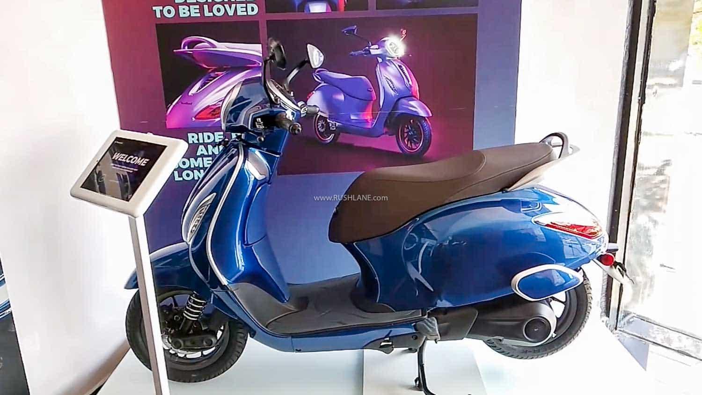 Bajaj Chetak electric scooter at dealership