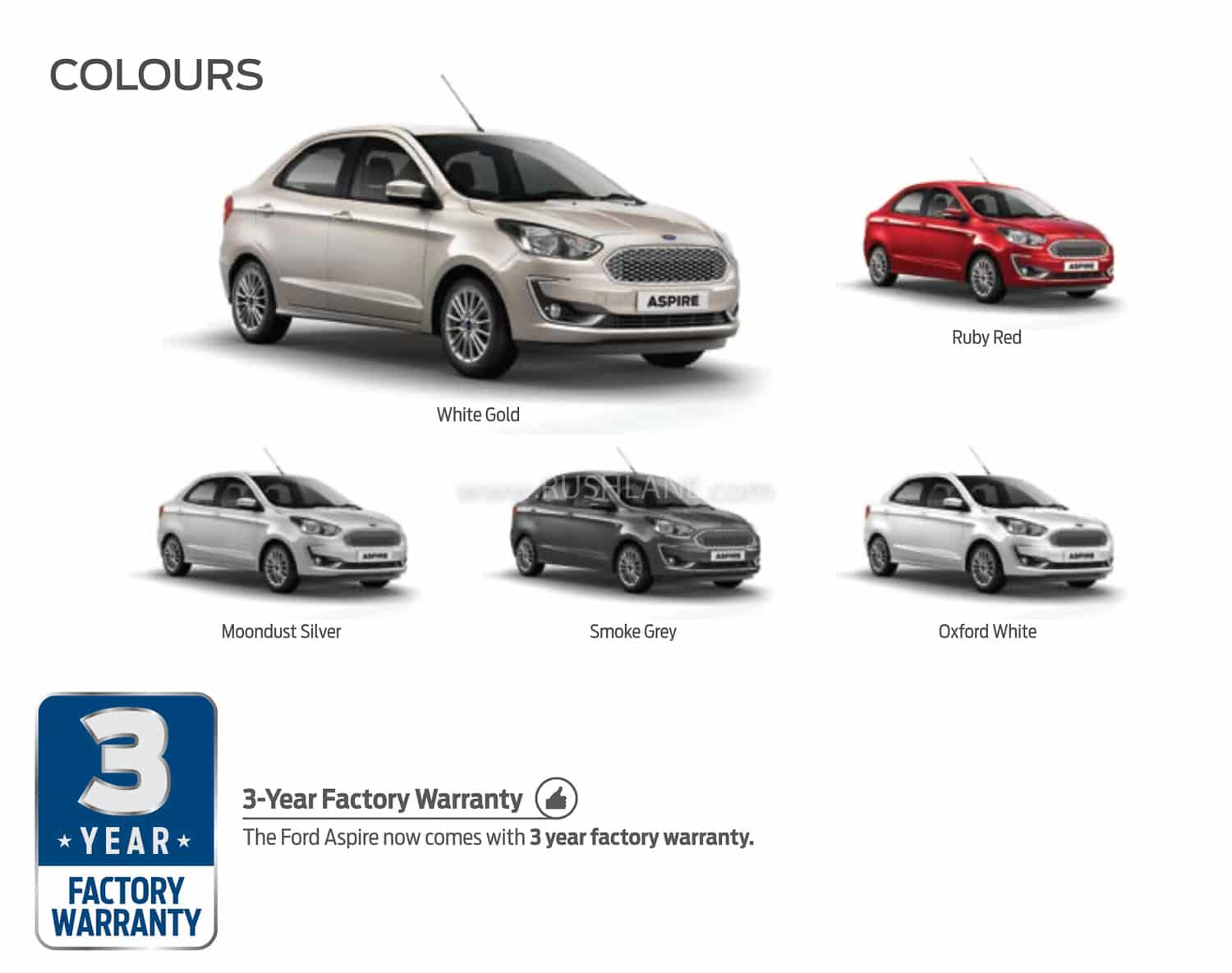 Ford Aspire Bs6 Variants Amp Features Sync3 Infotainment