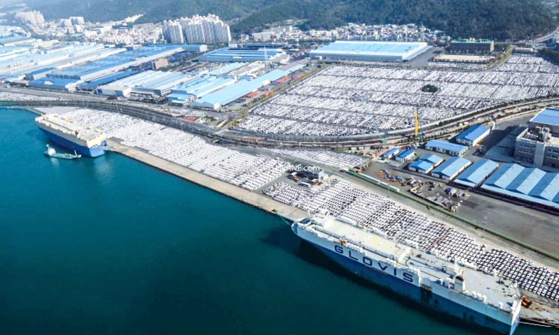 Hyundai car plant in South Korea