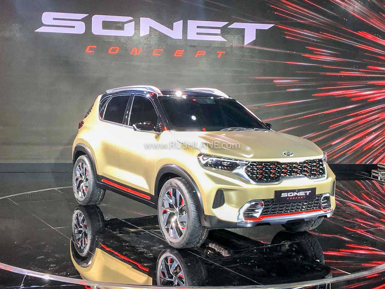 Kia Sonet at Auto Expo 2020