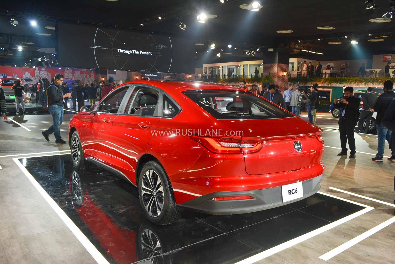 MG RC6 sedan at Auto Expo 2020