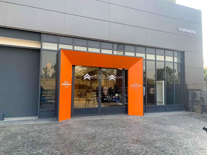 Peugeot Citroen first showroom in India.