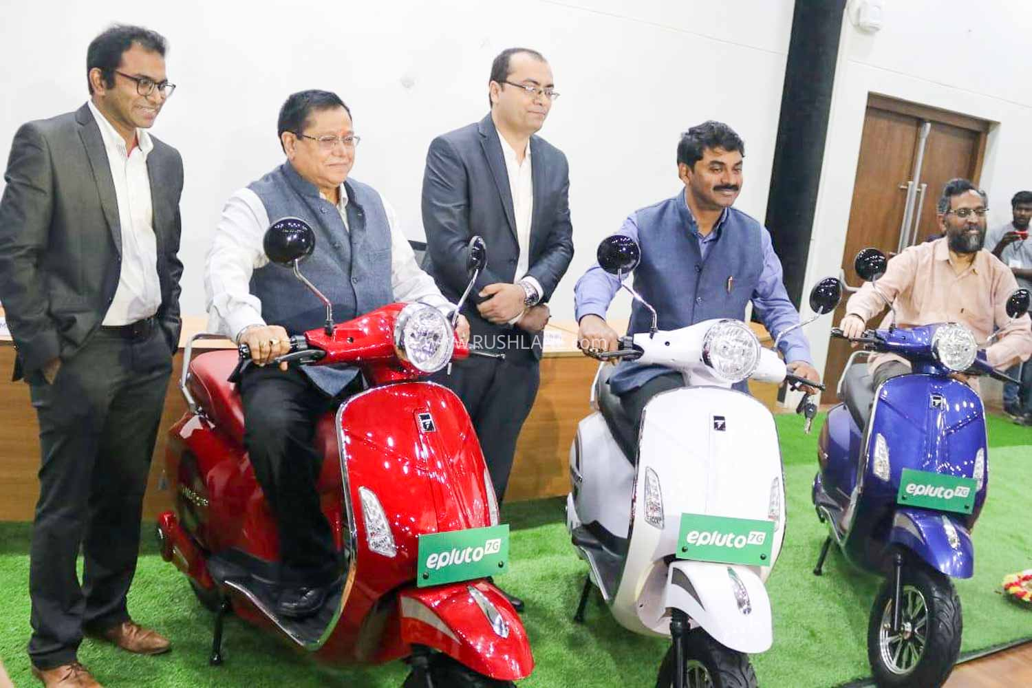 PureEV ePluto electric scooter launch at IIT Hyderabad campus.