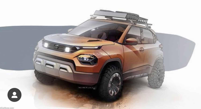 Tata HBX design sketch.