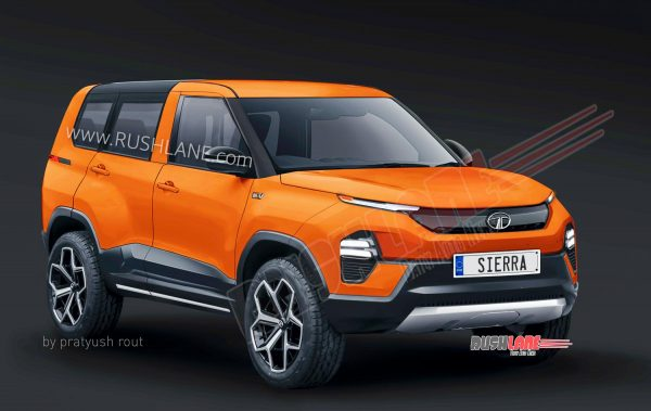 Tata Sierra SUV production version digital render.