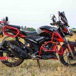 TVS Apache 200 Adventure kit