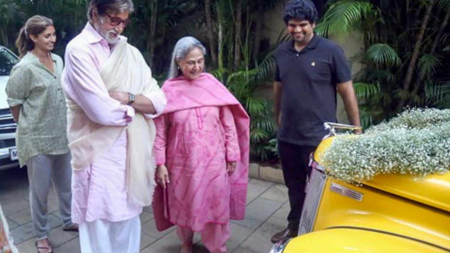 Amitabh Bachchan with the Ford Perfect