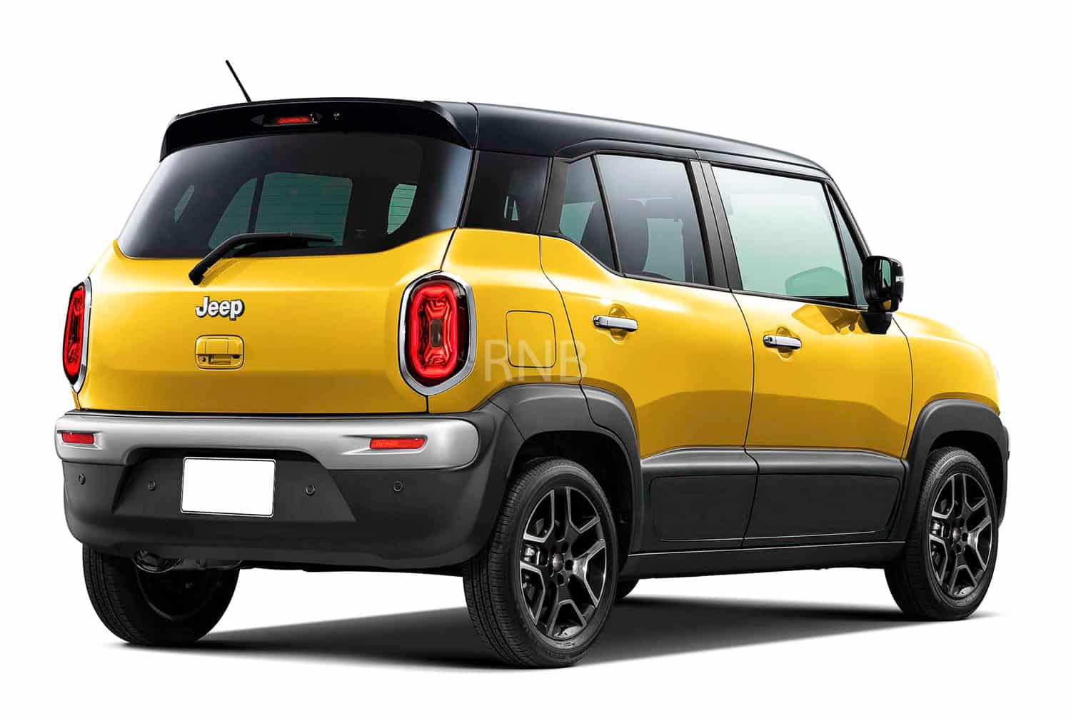 Jeep Renegade sub 4 meter Render