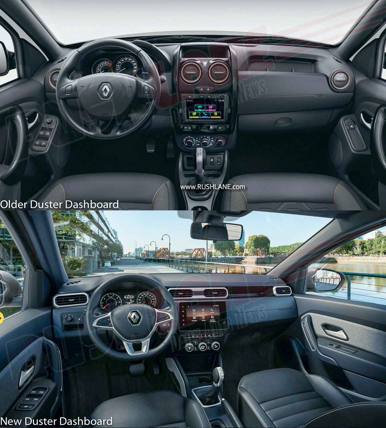 Renault Duster Interiors Old vs New