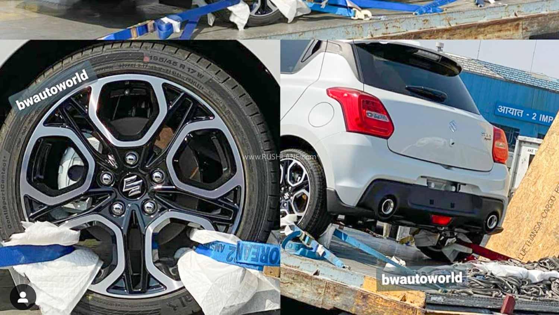 Maruti Suzuki Swift Sport Spied At Airport Import Section