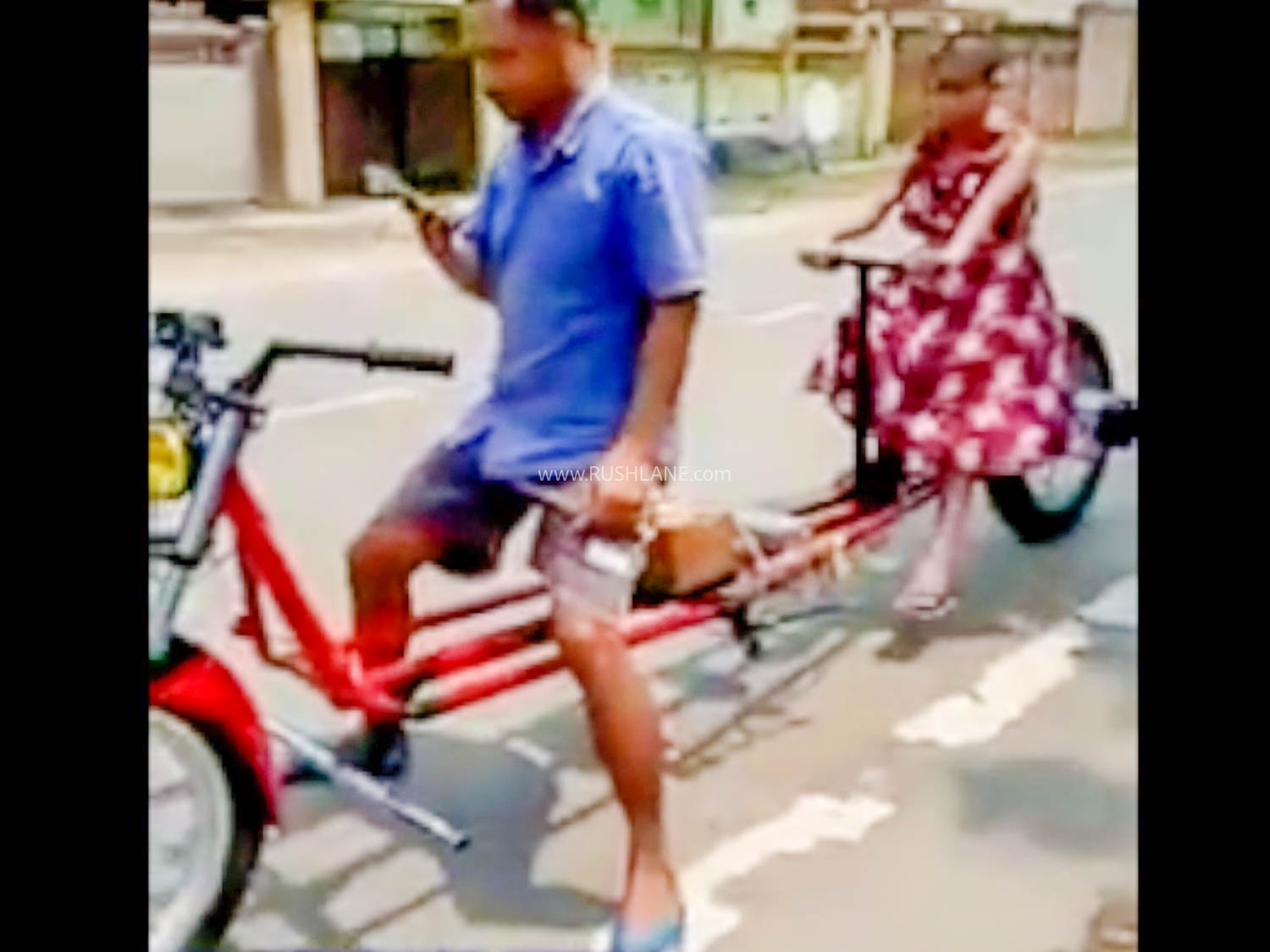Modified Motorcycle with Social Distance