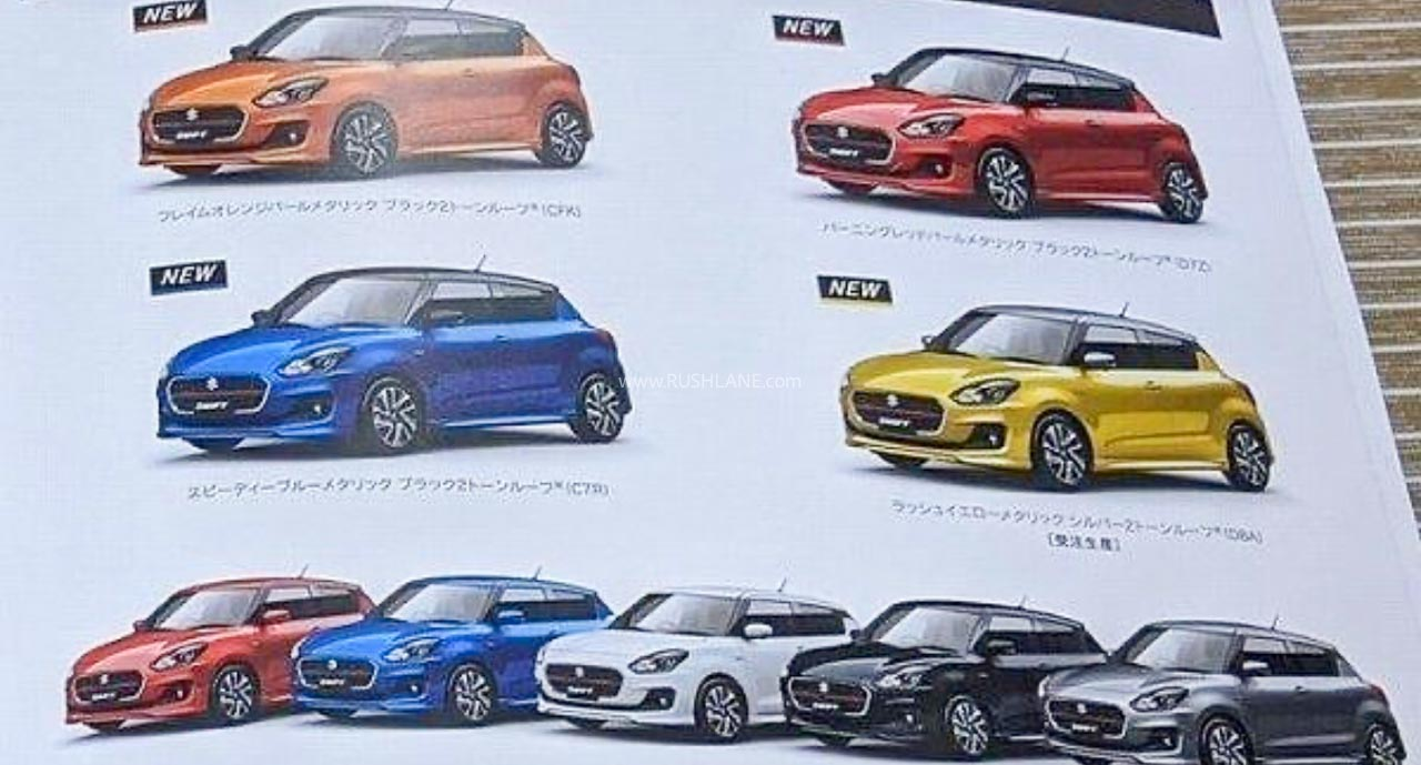 Maruti Swift Facelift colours